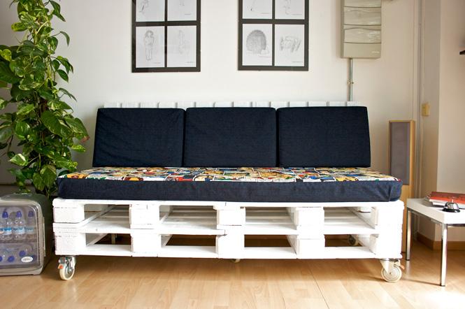 Forma hogar muebles con pallets - Palet reciclado muebles ...